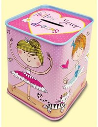 Image of Ballerina Tin Money Box